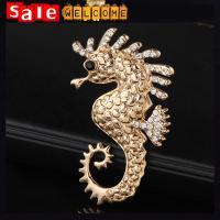Hijab Sea Horse Brooch Cheap Strass Crystal Broches,Brosches for Best Friends Costume Jewe