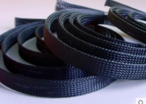 China PET Expandabl Electrical Braided Sleeving Fire - Retardant For Cable Manufacturers on sale