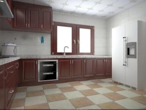 wooden grain cherry wood pvc villa kitchen cabinets traditional l rh modernkitchencabinets sell everychina com