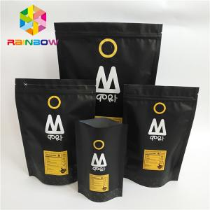 China Stand Up Plastic Pouches Packaging Printed One Way Valve Ziplock Coffee Bag on sale
