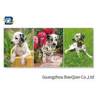 China Lovely 3d Animal Picture With Black Frame , Lenticular 3d Stereograph Printing on sale