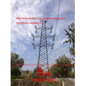China 110KV Transmission line double circuit JGU2 drum type Tension tower from megatro company on sale