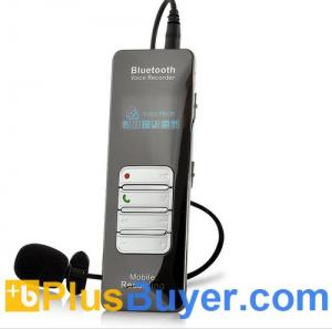 China Bluetooth One-button Voice and Call Recorder for Cell Phones (1 Inch OLED Screen, 8GB) on sale
