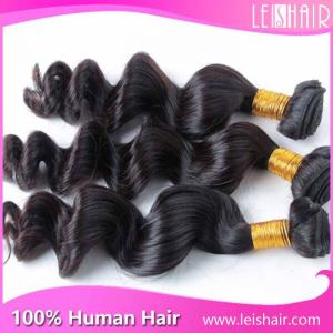 China Factory price cheap loose wave virgin brazilian hair weave wholesale on sale