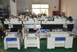 China 1.2 Meter SMT Semi Automatic Solder Paster Printer For LED, Red glue on sale