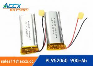 China 952050pl 3.7v lithium polymer battery with 900mAh li-ion battery for bluetooth headset on sale