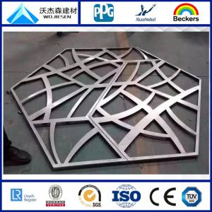 China Carved Hollow aluminum plate with PVDF coating-customized on sale