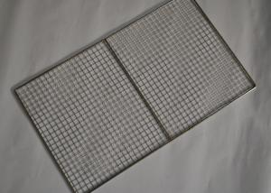 China 304 Stainless Steel Crimped Mesh Barbecue Grills Panels / Trays on sale