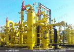 Gas-liquid coalescer for separation of water from natural gas