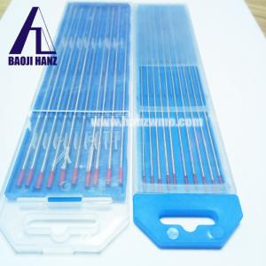 China Inventory stock price red tip wt20 tungsten electrode size 2.4 mm on sale