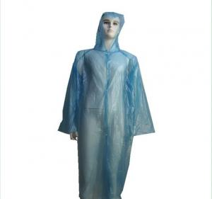 China Soft PE Material Disposable Plastic Gowns For Water / Oil / Blood Prevention on sale