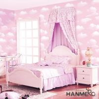 Pink Color Wallcovering PVC 0.53*10M/Roll Children Room Decorative Wallpaper Wholesale