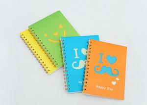 China Leather Cover Promotional Spiral Notebooks Personal Journal Books With Pen on sale