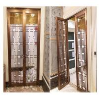 hotel indoor stainless steel screen room divider metal door partition made in china