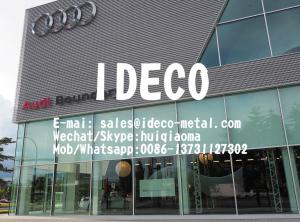 China Decorative Perforated Aluminium Corrugated Sheets for Audi 4S Architectural Roofing & Wall Facade Cladding on sale