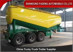 China Tri axle 60cbm 40 ton 60 ton 70 ton dry silo bulk cement bulker tank trailer on sale