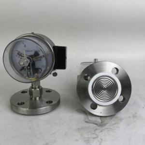 China Electrical contact diaphragm 316 flange pressure gauge on sale
