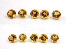 China Round Natural Citrine Gemstones RD 6mm For Jewelry Settings 0.76cts on sale