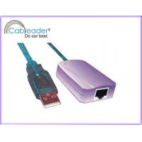 China Cableader USB to Ethernet adapter, USB A male to RJ45 socket High speed data connecting on sale