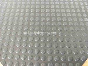 China Non - Slip Outdoor Rubber Mats With Dot Studed Pattern / Rubber Garage Mats on sale