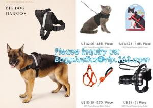 China BIG DOG HARNESS, Custom Logo Nylon Rope Pet Dog Leash and Harness Set, size/logo/color no pull easy walk puppy big Dog H on sale