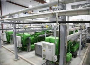 China 500KW - 4MW Landfill Gas Power Plant , Renewable Energy Sources Electric Plant on sale