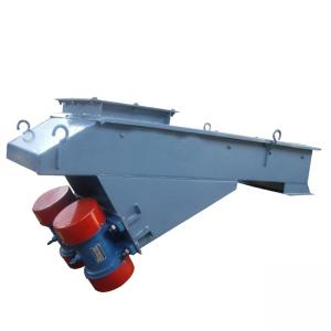 China Stone Sand Motor Vibrating Feeder Conveyor Carbon Steel Material on sale