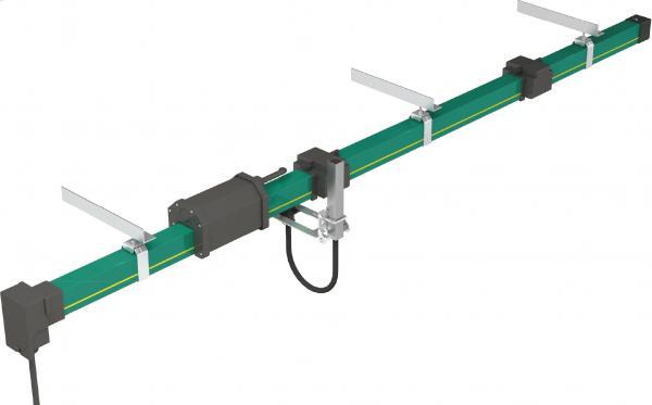 HFP56 PVC Housing Overhead Crane Hoist Parts Enclosed Conductor Rail