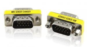 China 15 HD Pin/DB15/VGA/SVGA KVM Gender Changer Adapter M-M MINI Gender Adapter on sale