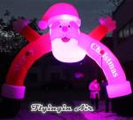 Led Lighting Inflatable Santa Claus Arch for Christmas Decoration