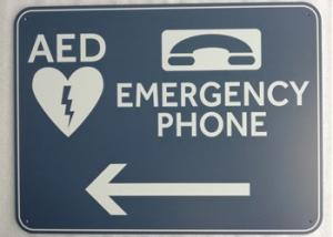 China 0.08 Safety Custom Printed Aluminum Signs Surface Mounted With Emergency Phone on sale