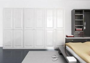 matt white built in hinged wardrobe doors wooden with cloth closet rh modernkitchencabinets sell everychina com