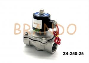 China AC220V Stainless Steel Pneumatic Solenoid Valve 2S-250-25 1 Inch Port Size on sale