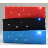 Portable Cube Bluetooth Speaker with Flashing Led Lights Red / Blue / Black outdoor speaker