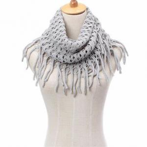 China Custom Logo Jacquard Winter Knitted Cotton Scarf , Ladies Knitted Scarves on sale