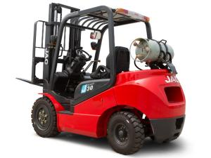 China Gas Powered LPG Forklift Trucks 3500KGS Load Capacity 3m - 6m Lift Height on sale