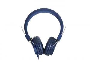 China Dark Blue Noise Reduction Earbuds , Plastic Foldable On Ear Headphones on sale