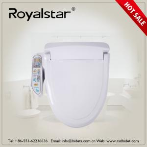China Open Front Heated Toilet Seat Cover , Heated Commode Seat Built In Seat Sensor on sale
