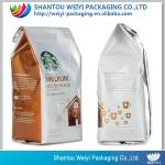 coffee/tea/ food packaging bag/wholesale stand up pouch silver aluminum foil bag with ziplock