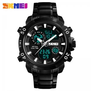 China Factory price High quality SKMEI 1306 Stainless Steel Watch Waterproof Fashion Digital Wrist Watch on sale