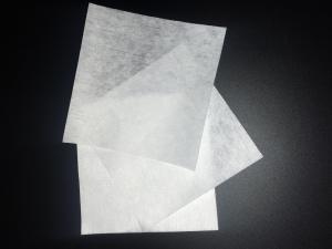 China White Cleanroom Lint Free Cloth 55% Cellulose 45% Polyester Blend Knife Cut on sale