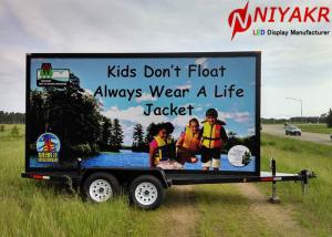 China Waterproof Truck Trailer Outdoor Mobile LED Screen For Mobile Advertising on sale