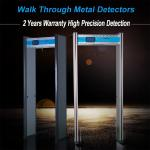 6zones High Quality Adjustable Walk Through Door Frame Metal Detector