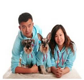 China 2015 new design fleece hoodie dog clothes matching dog and human pet clothes clothes on sale
