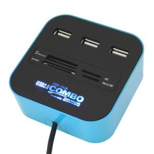 China All in 1 Card Reader with 3-Port USB HUB,USB Card Reader,USB Combo on sale