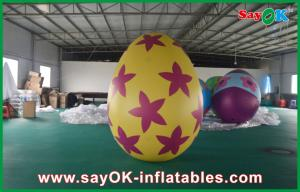 China Decoration Colorful Inflatable Egg Easter Festival Decoration with Print on sale