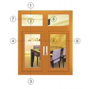 China Anodised Aluminium Composite Windows / Yellow HorizontalCasement Window on sale