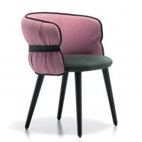 Merge Contemporary Coulisse Armchair / Classic Desig Leather Arm Chairs