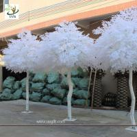 UVG GRE011 10ft white artificial christmas tree with wood fake banyan trees for party decoration
