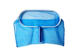 China Alu Swimming Pool Leaf Skimmer Pool Leaf Catcher With Blue Handle And Nylon Net on sale